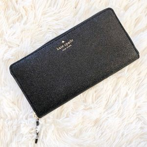 Kate Spade Joeley Glitter Large Continental Wallet